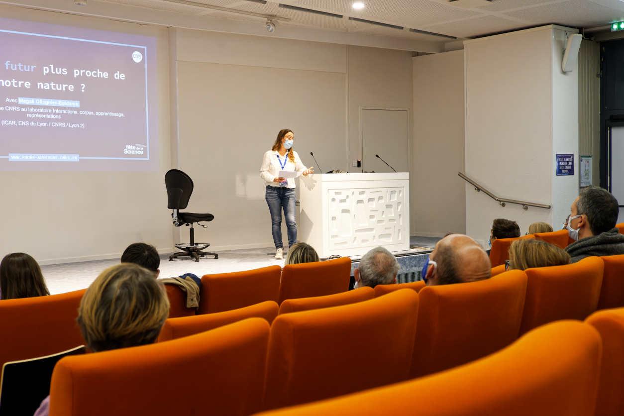 Intervention de Magali Ollagnier-Beldame durant la Fête de la Science 2020