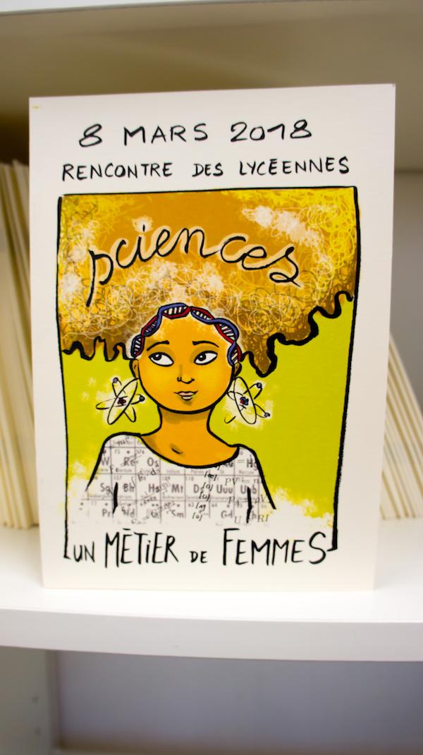 Bande dessinée de la journée Sciences un métier de femmes 2018 - Leah Touitou